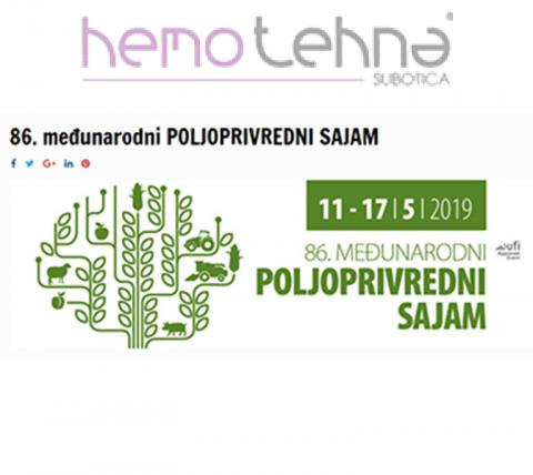 "As each year, ""Hemotehna"" d.o.o. will attend 86th International Agricultural Fair in Novi Sad"